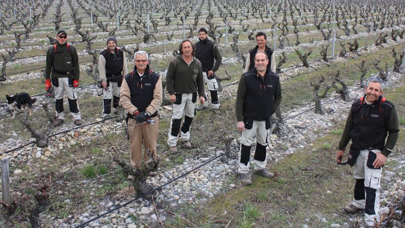 Foto de los trabajadores que forman el equipo de campo