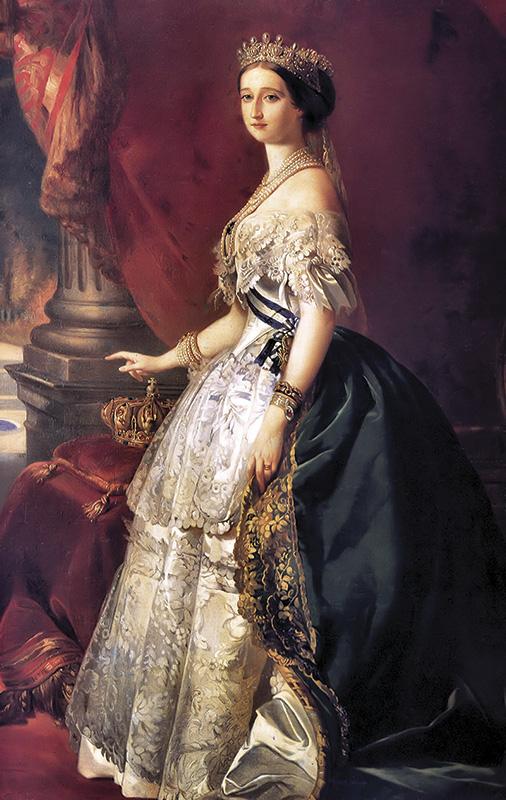Reproducción de pintura de Eugenia de Montijo esposa de Napoleón III