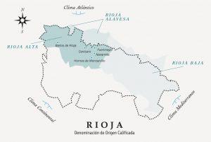 Mapa localización viñedos de El Pedal