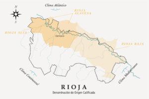 Mapa de localización del viñedo del vino Las Cenizas