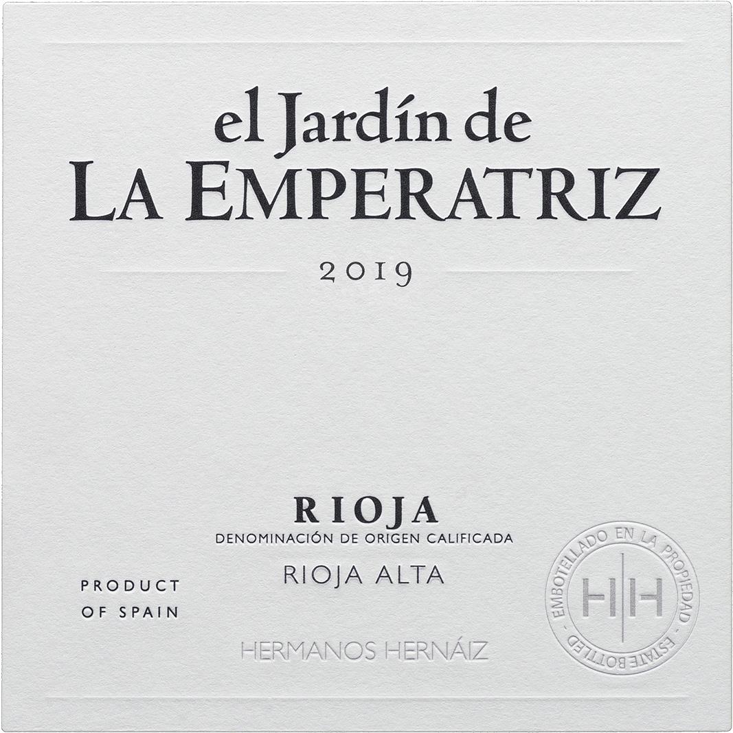Etiqueta El Jardín de La Emperatriz Blanco 2020
