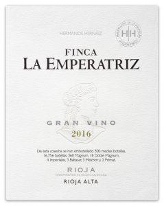 Etiqueta Finca La Emperatriz Blanco 2016