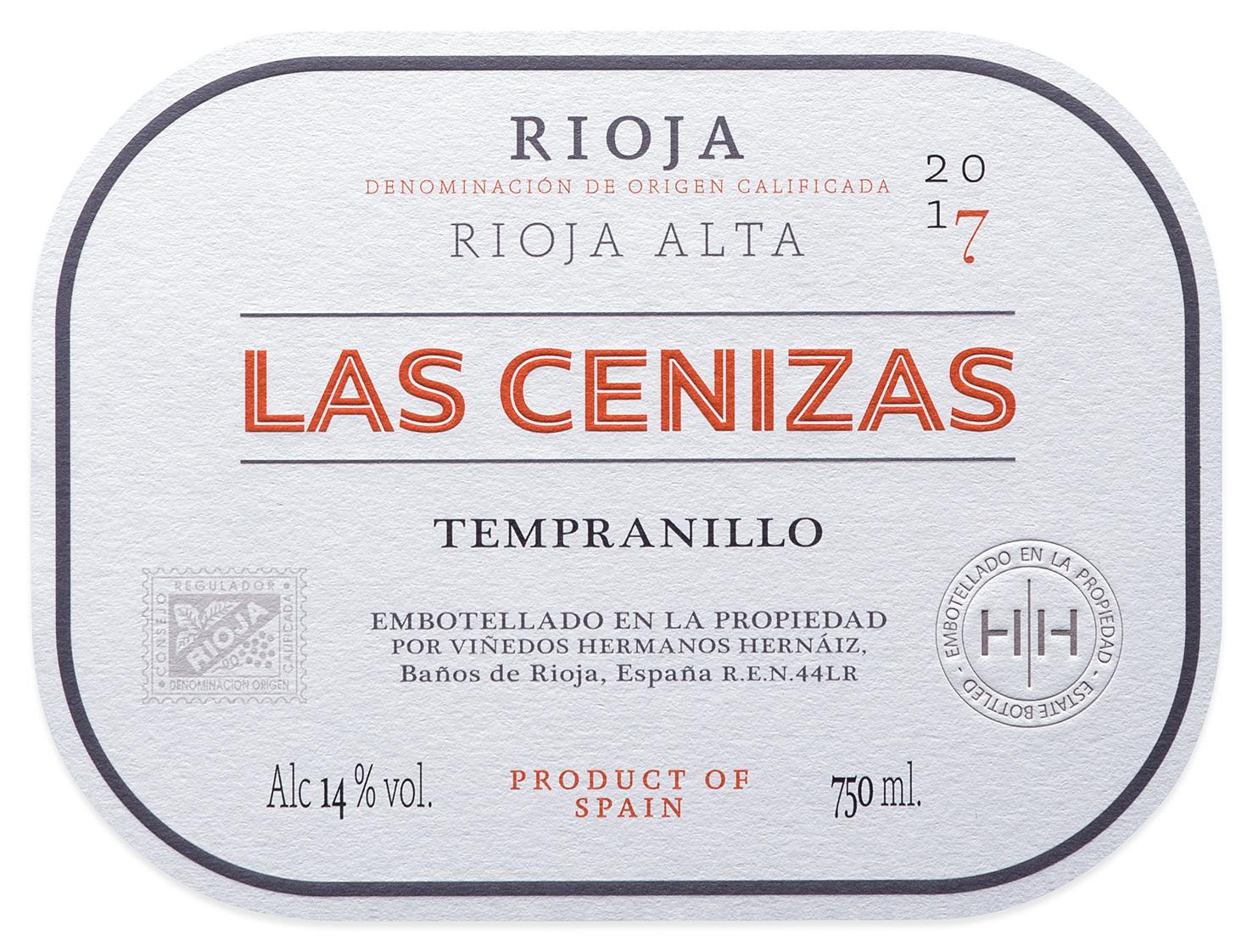 Etiqueta Las Cenizas 2018